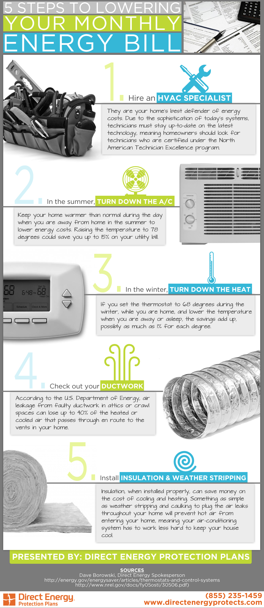 5 steps to lower your monthly energy bill from Direct Energy Protection Plan
