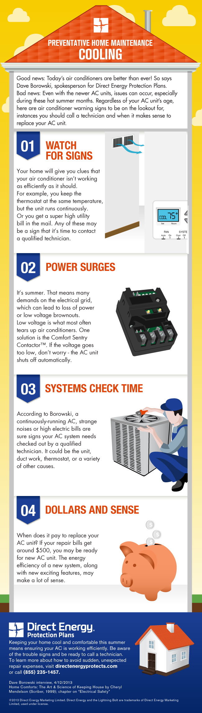 A/C preventative maintenance infographic from Direct Energy Protection Plan