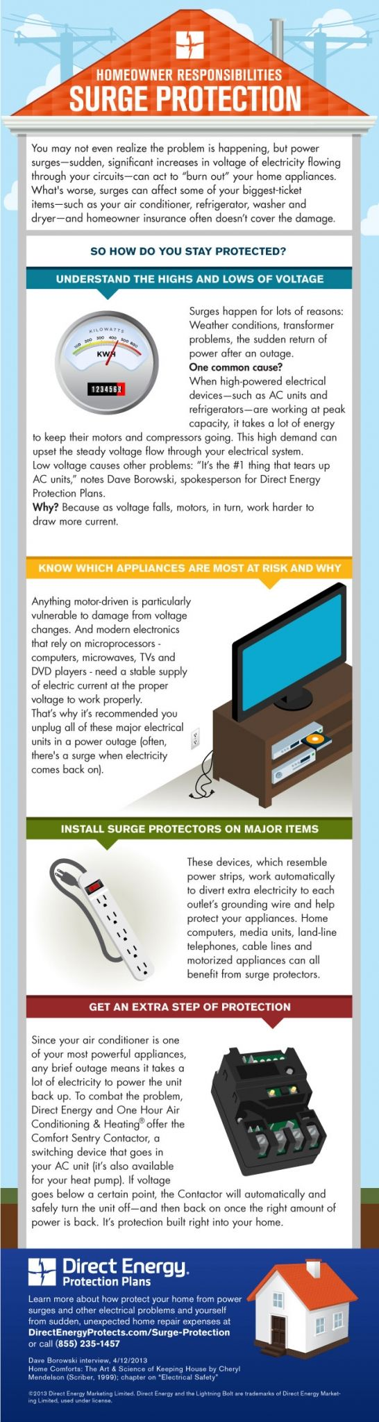 How to protect your home from power surges with surge protection plans from Direct Energy Protection Plans.
